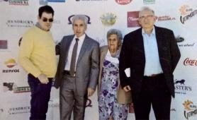 La Unitat mòbil el Dia Mundial Turisme. A la foto: José Pedro, Antonio Escudero, Conxita, Salvador