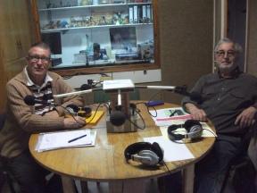 Josep Cabra i Marià Romero parlant dels actes del Cercle Bredenc
